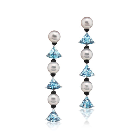 South Sea Pearl Fan earrings by Assael