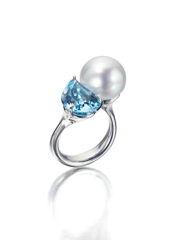 South Sea Pearl Paisley ring by Assael