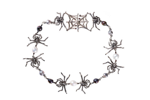 The Kiss of the Spider Woman necklace by Martina Buck of Haute Metal