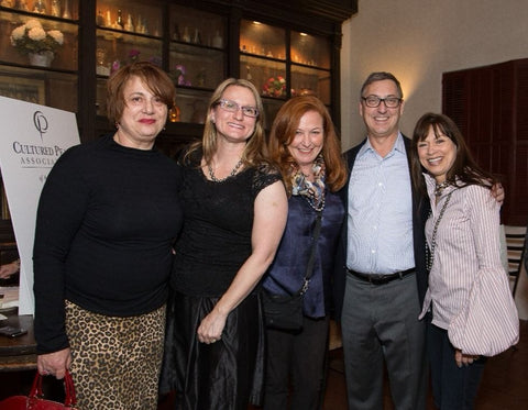 From left: Bella Campbell of Campbellian Collection, Jennifer Heebner, Marisa La Belle of Atelier Marisa, Fran Mastoloni, and Linda Quinn of Linda Quinn Designs