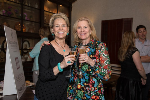 #GemBesties: Patricia Flynn Syvrud (left), Minerals & Society program manager at the University of Delaware, with pal Christine Webb, consultant to the Smithsonian Institution's National Gem Collection