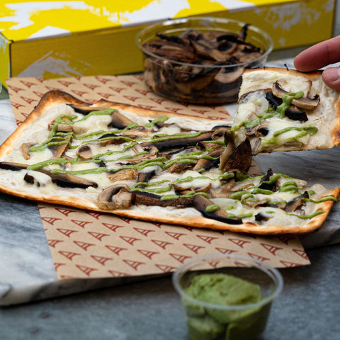 Mushroom & Mozzarella skinny pizza meal kit - Build your own (4 portions)