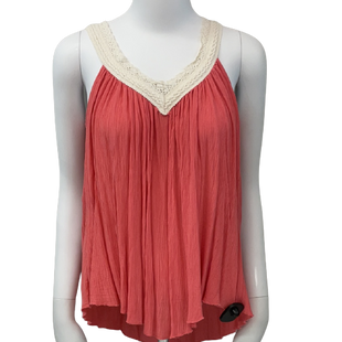 Sleeveless Top by Heart Hips size S - BRAND: HEART HIPS. SIZE: SMALL. STYLE: LACE V-NECK, LOOSE FIT. COLOR: PINK. SKU: 40321020134.