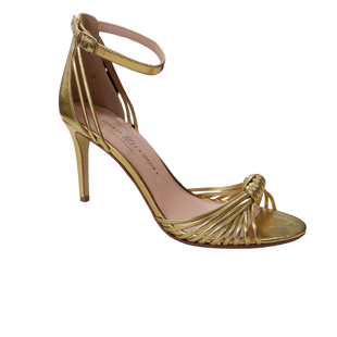 Heels by Chinese Laundry size 9.5 - BRAND: CHINESE LAUNDRY. SIZE: 9.5. STYLE: STRAPPY HEELS, WITH ANKLE STRAP. COLOR: GOLD. SKU: 40321029405.