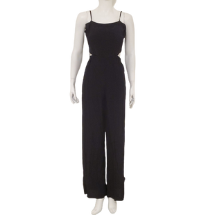 Romper Long Sleeveless by Express Size M - BRAND: EXPRESS . STYLE: SLEEVELESS WITH SIDE CUTOUTS. COLOR: BLACK. SIZE: MEDIUM. SKU: 40321028394.