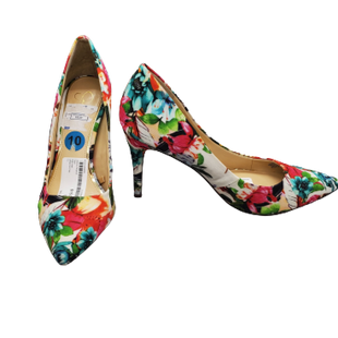 Heels by Jessica Simpson Size 10 - BRAND: JESSICA SIMPSON. STYLE: TROPICAL PUMP. COLOR: BLUE, GREEN, BLACK AND PINK. SIZE: 10 . SKU: 40321029406.