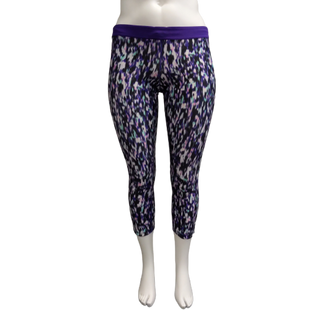 Athletic Bottoms by Nike Size L - BRAND: NIKE . STYLE: DRI-FIT DRAWSTRING CAPRIS. COLOR: PURPLE, WHITE, PINK, GREEN AND BLACK. SIZE: LARGE. SKU: 40321023579.