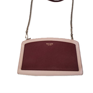 Designer Crossbody bag by Kate Spade size S - BRAND: KATE SPADE. STYLE: BODY STRAP HANDBAG WITH ZIP CLOSURE. COLOR: PINK BURGUNDY. SIZE: SMALL. SKU: 40321022743.