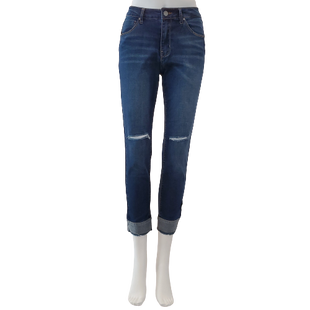 Jeans by Black Label Size 8 - BRAND: BLACK LABEL . STYLE: ANKLE SKINNY. COLOR: DARK WASH. SIZE: 7 (29 WAIST). SKU: 40321029312.