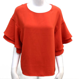 Top short sleeve by H&M size S - BRAND: H&M. SIZE: S. STYLE: LAYERED WIDE SLEEVE, POLY FABRIC. COLOR: SCARLET RED. SKU:40321006291.