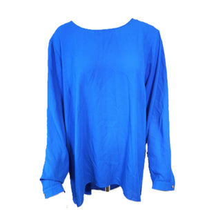 Shirt Long Sleeve by Vince Camuto Size XL - BRAND: VINCE CAMUTO. STYLE: LONG SLEEVE SHIRT. COLOR: BLUE. SIZE: XL. SKU: 40321009185.
