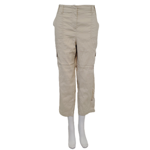 Pants by Chico's Size L - BRAND: CHICO'S. STYLE: STRAIGHT LEG CARGO. COLOR: KHAKI. SIZE: LARGE (CHICO'S SIZE 2). SKU: 40321019205.