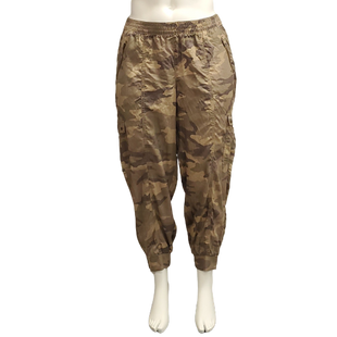 Pants by Lane Bryant Size 18/20 - BRAND: LANE BRYANT. STYLE: ELASTIC WAIST, TAPERED LEG. COLOR: BROWN AND GREEN CAMO. SIZE: 18/20 (2X). SKU: 40321017214.