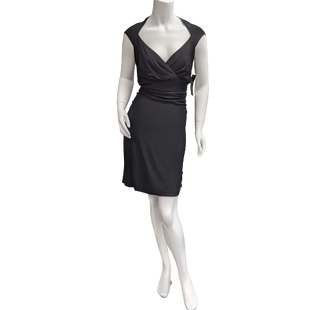 Dress short by Anne Klein size XL - BRAND: ANNE KLEIN. STYLE: SHORT DRESS, SLEEVELESS, RUCHED SIDES AND BACK, SWEETHEART GATHERED BUST. COLOR: BLACK. SIZE: XL. SKU: 40321014838.