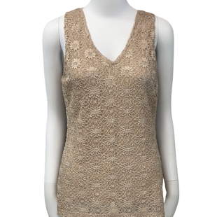 Sleeveless Top by Banana Republic size S - BRAND: BANANA REPUBLIC . SIZE: SMALL . STYLE: DOUBLE LAYERED, V-NECK . COLOR: GOLD. SKU: 40321015280.