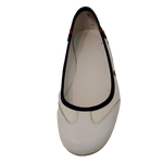 Shoes Flat by Gucci size 7.5 - <P>BRAND: GUCCI </P> <P>STYLE: ROUND TOE BALLET FLAT</P> <P>COLOR: WHITE, RED AND BLUE</P> <P>SIZE: 7.5</P> <P>SKU: 40321028893</P>