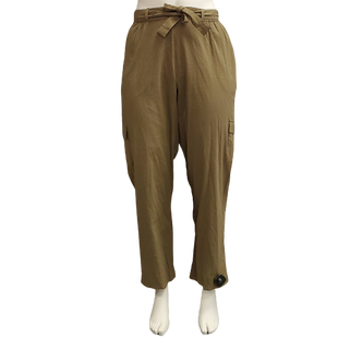 Pants by White Stag Size 16 - BRAND: WHITE STAG. STYLE: CARGO POCKET WITH TIE DETAIL. COLOR: OLIVE. SIZE: 16 (1X). SKU: 40321019572.