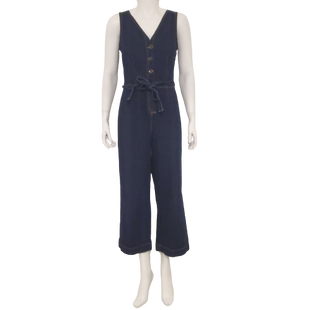 Overalls by Universal Thread Size 4 - BRAND: UNIVERSAL THREAD. STYLE: BUTTON DOWN OVERALLS. COLOR: DARK DENIM. SIZE: 4 (SMALL). SKU: 40321028672.