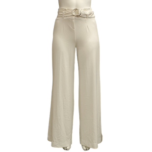 Pants by New York & Co Size 16 - BRAND: JONES NEW YORK . STYLE: WIDE LEG WITH BELTED WAIST. COLOR: WHITE. SIZE: 16 . SKU: 40321018211.