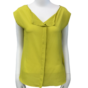 Sleeveless Top by Worthington size S - BRAND: WORTHINGTON. SIZE: SMALL . STYLE: LOOSE FIT, SHEER. COLOR: YELLOW. SKU: 40321020542.