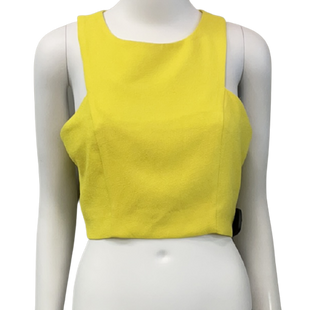 Sleeveless Top by J.O.A. size S - BRAND: J.O.A.. STYLE: CROPPED HALTER, ZIPPER IN BACK. COLOR: YELLOW. SIZE: SMALL. SKU: 40321029868.