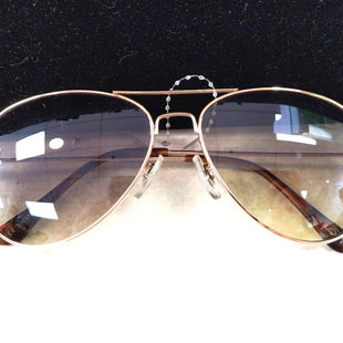 Sunglasses by Loft - BRAND: LOFT ANN TAYLOR. STYLE: AVIATORS. COLOR: BROWN LENS, GOLD. SKU: 40321023356.