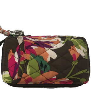 Wristlet by Vera Bradley Small - BRAND: VERA BRADLEY. STYLE: CARD HOLDER, ZIP AROUND. COLOR: BROWN, CORAL. SIZE: SMALL. SKU: 40321018096U.