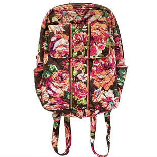 NWT Backpack by Vera Bradley - BRAND: VERA BRADLEY. SIZE: MEDIUM. STYLE: QUILTED ZIPPERED BACKPACK. COLOR: BROWN, PEACH, GREEN, FUSCHIA. SKU: 40321024661.