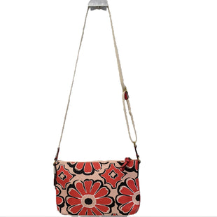 Designer Handbag by Coach Size S - BRAND: COACH. STYLE: CROSSBODY. COLOR: RED AND TAN. SIZE: SMALL. SKU: 40321026542.
