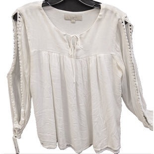 Shirt Long sleeve from Ann Taylor Loft size M - BRAND: ANN TAYLOR LOFT. SIZE: M. STYLE: ARM CUT OUTS, GATHERED PEASANT STYLE, TIE WRIST DETAIL. COLOR: WHITE. SKU: 40321007758.