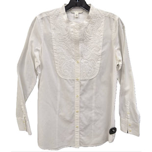 Shirt Long sleeve by Banana Republic size S - BRAND: BANANA REPUBLIC. SIZE: S. STYLE: KAFTAN SHIRT, W/ EMBROIDERY DETAIL. COLOR: WHITE . SKU: 40321002561.