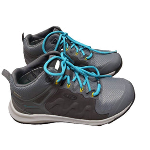Shoes Athletic by Keen Size 8.5 - BRAND: KEEN. STYLE: ATHLETIC SNEAKER. COLOR: GRAY AND TEAL. SIZE: 8.5. SKU: 40321019321.