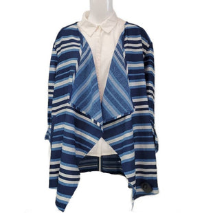 Sweater Cardigan Lightweight By Ruby Rd Size XL - BRAND: RUBY RD. SIZE: EXTRA LARGE, PETITE. STYLE: LIGHTWEIGHT LONG SLEEVE CARDIGAN WITH TWO POCKETS AND BUTTON ROLL-UP SLEEVES. COLOR: NAVY, BLUE, WHITE. SKU: 40321013745.