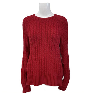 Sweater by Gap Size M - BRAND: GAP. STYLE: CREW NECK CABLE KNIT. COLOR: RED. SIZE: MEDIUM. SKU: 40321026449.