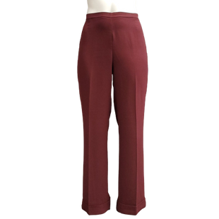 Pants by New York & Company Size 16T - BRAND: NEW YORK & COMPANY . STYLE: FLAT FRONT WIDE LEG DRESS PANTS. COLOR: MAROON. SIZE: 16 TALL. SKU: 40321020084.