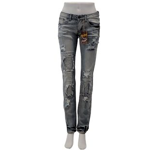 Jeans by Machine Size 8 - BRAND: MACHINE. STYLE: SKINNY. COLOR: LIGHT WASH. SIZE: 7 (29 WAIST). SKU: 40321029326.