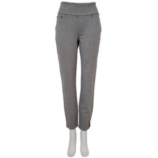 Pants by DG2 Size M - BRAND: DG2 . STYLE: SLIMMING, COMFORT WAIST, PULL ON. COLOR: GRAY. SIZE: MEDIUM. SKU: 40321025292.