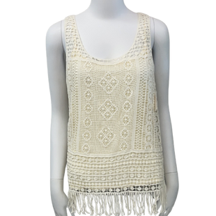 Sleeveless Top by Lauren by Ralph Lauren size S - BRAND: LAUREN BY RALPH LAUREN. SIZE: SMALL. STYLE: DOUBLE LAYER, CROCHET LACE TOP LAYER . COLOR: CREAM. SKU: 40321018989.
