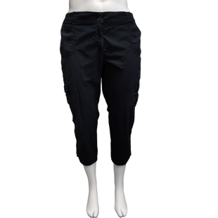 Pants by Chico's Size XL - BRAND: CHICO'S . STYLE: CARGO CAPRIS. COLOR: BLACK. SIZE: X-LARGE (CHICO'S SIZE 3.5). SKU: 40321017675.