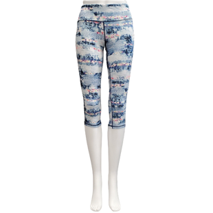 Athletic Bottoms by Material Girl Active Size S - BRAND: MATERIAL GIRL ACTIVE . STYLE: CAPRIS. COLOR: BLUE AND WHITE. SIZE: SMALL. SKU: 40321023796.