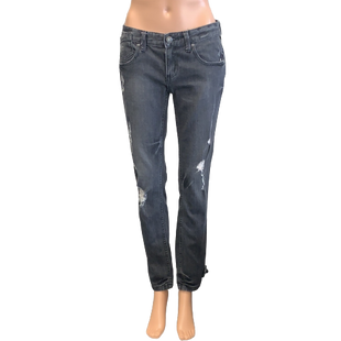 Jeans by Free People Size 4 - BRAND: FREE PEOPLE. STYLE: SKINNY LEG, DISTRESSED. COLOR: GRAY. SIZE: 4 (27). SKU: 40321012668.