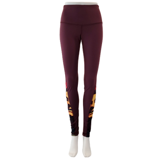 Athletic Bottoms by Yogavated Size L - BRAND: YOGAVATED . STYLE: LEGGING. COLOR: MAROON, YELLOW, RED AND BLACK. SIZE: LARGE. SKU: 40321024379.