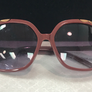 Sunglasses by Free People - BRAND: FREE PEOPLE. STYLE: HEXAGON SHAPE. COLOR: BURGUNDY, BRASS. SKU: 40321010439U.