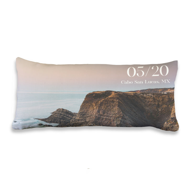 The Cabo - Custom Travel Photo Lumbar Throw Pillow