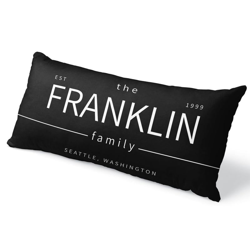 The Franklin - Custom Family Lumbar Throw Pillow