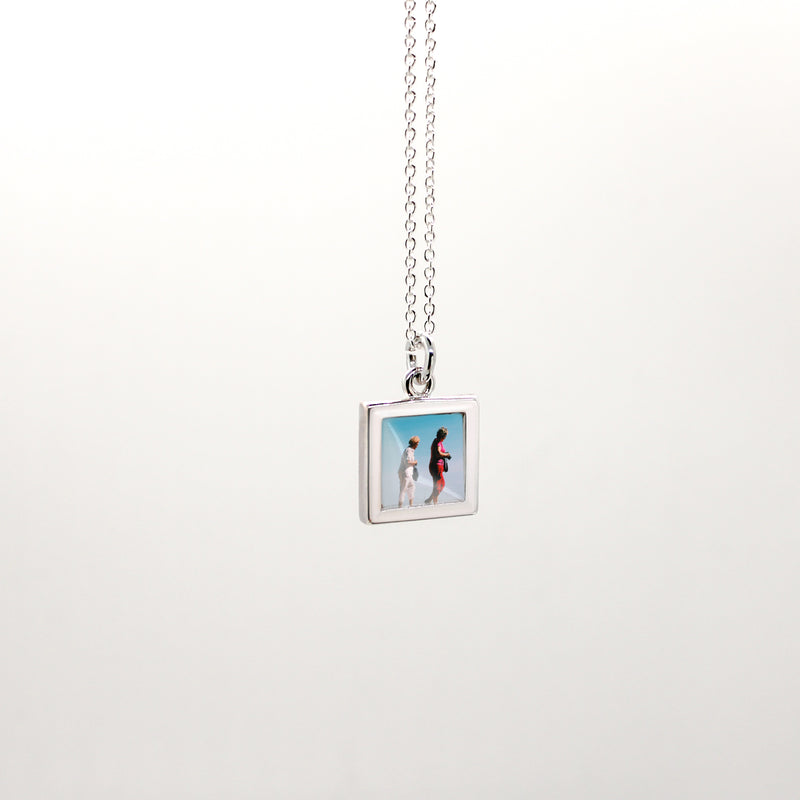 Sterling Silver Square Photo Charm
