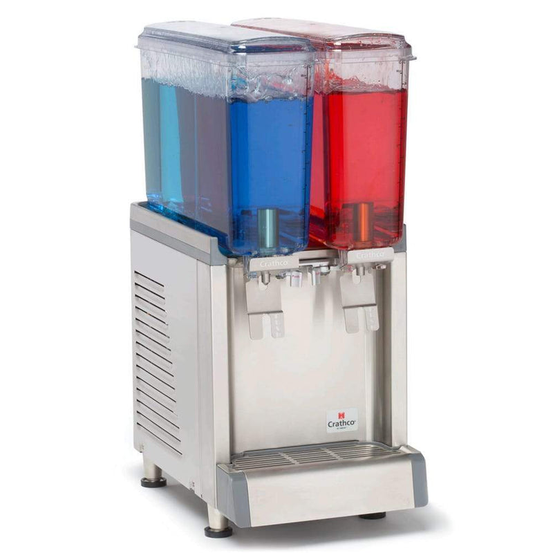Crathco CS-2E-16-S Refrigerated Sprayer Drink Dispenser w/ (2) 2 2/5 gal Bowls