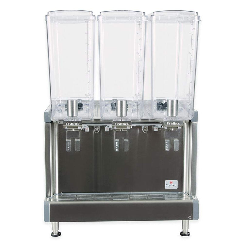 Crathco CS-3L-16 Refrigerated Drink Dispenser w/ (3) 4 3/4 gal Bowls, Pre Mix