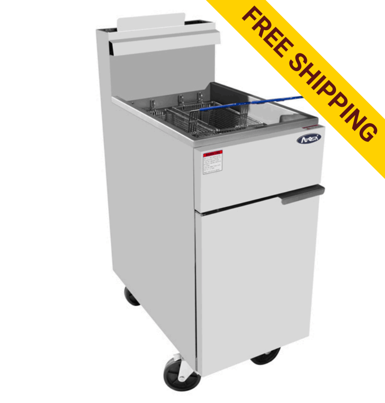 Atosa ATFS-50 HD 50lb Stainless Steel Commercial Deep Fryer - Summit Restaurant Supply