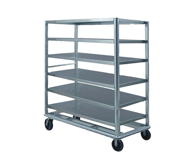 "FWE Model UC-72-609AL Aluminum Queen Mary Utility Cart with 6 Shelves 24"" x 69"""